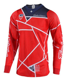 2018 Troy Lee Designs SE Air 18.1 Metrix MX Jersey Red/Navy