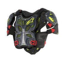 Alpinestars A10 Full Chest Protector Anthracite/Black/Red