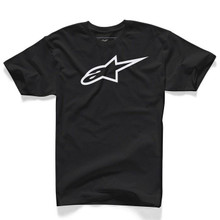Alpinestars Men's Casual Adult Short Sleeved T-Shirt Ageless Classic Black/White
