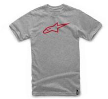 Alpinestars Men's Adult Casual Short Sleeved T-Shirt Ageless Classic Grey/Red