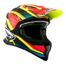 Suomy Alpha MX Helmet Waves Matt Red/Yellow