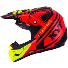 KYT Cross Over MX Helmet KTime Red/Yellow Flo