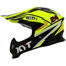 KYT Strike MX Helmet Eagle Simpson Replica Yellow