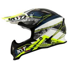 KYT Strike MX Helmet Eagle Webb Matt White/Blue