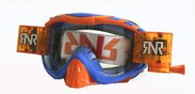 Rip n Roll Hybrid Fully Loaded Goggles Blue/Orange w/Clear Lens