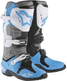 Alpinestars Tech-10 Boots Cyan/Grey/Black
