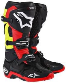 Alpinestars Tech-10 Boots Black/Red/Yellow