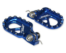 RFX Pro Series CNC Aluminium Trials Footrests/Footpegs Blue Universal GasGas/Beta/Sherco/Montesa