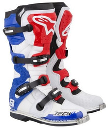 2013 Alpinestars Tech-8 RS Boots White/Red/Blue