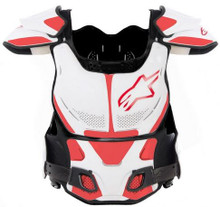 Alpinestars A8 Chest Protector BNS White/Red