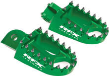 RFX Pro Series Footpegs Green Kawasaki
