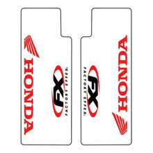 Factory Effex Clear upper fork decal Honda/Red