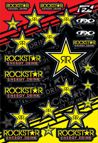 Factory Effex Rockstar Energy Sticker Sheet - Gold