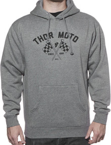 Thor Finish Line pullover fleece hoody heather grey