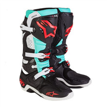 Alpinestars Tech 10 Boots Tomac LIMITED EDITION Black/Turquoise/Red