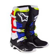 Alpinestars Tech 10 Boots Barcia LIMTED EDITION Black/Red/Blue