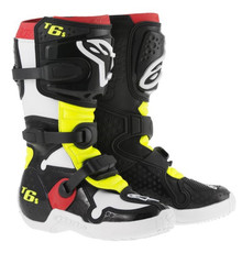 2015 Alpinestars Tech 6S Youth Boots Black/Red/Yellow