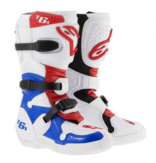 2015 Alpinestars Tech-6S Youth Boots White/Blue/Red