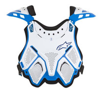 Alpinestars A10 BNS Chest Protector/Body Armour White/Blue One Size