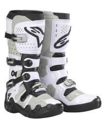 Alpinestars Tech 7 Super Moto Boots White/Grey