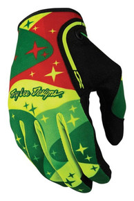 2016 Troy Lee Designs XC Gloves Cosmic Camo Flo/Green