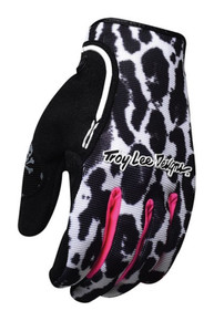 2016 Troy Lee Designs Womens XC Gloves Cheetah White