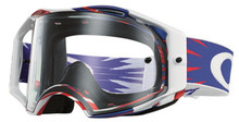 Oakley Airbrake Goggles High Voltage RWB With Clear Lens