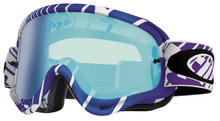 Oakley O Frame Goggles Skull Rush White/Purple With Iridium Lens