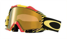 Oakley Proven Goggles Biohazard Red/Yellow With Iridium Lens
