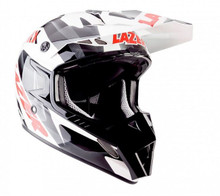 2015 Lazer MX-8 Helmet Pure Glass Geopop White/Black/Red