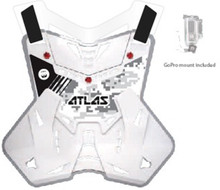 2015 Atlas Defender Lite Body Protector Digital Arctic Adult One Size