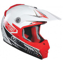 2015 Lazer MX-8 Carbon Tech Helmet White/Red