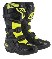 2015 Alpinestars Tech 6S Youth Boots Black/Neon