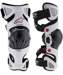2016 Alpinestars Fluid Pro Knee Brace Set White pair