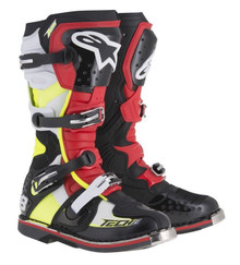 Alpinestars Tech Eight RS Boots Black/Neon/Red