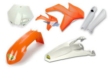 Cycra Full Body Plastic Kit KTM SXF/XCF/EXCF/SX/XC 125 UP 2011-12 Orange/White