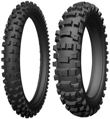 Pair Michelin AC 10 Tyres 80/100-21 & 100/90-19 Road Legal