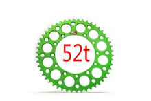 Renthal 112/520 52 Tooth Rear Sprocket Green KXF250/450, KX125-500