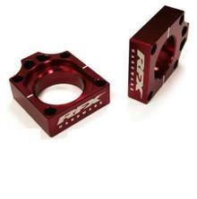 RFX Pro Rear Axle Adjuster Blocks (Red) Honda CR125/250 02-07 CRF250/450 02-08 CRFX250/450 04-16