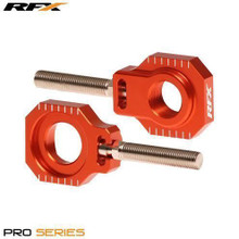 RFX Pro 2 Rear Axle Adjuster Blocks (Orange) KTM 125-525 05-16
