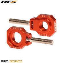 RFX Pro 2 Rear Axle Adjuster Blocks (Orange) KTM 125-525 05-16