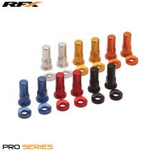 RFX Pro Rim Lock Nuts and Washers (Orange) 2pcs