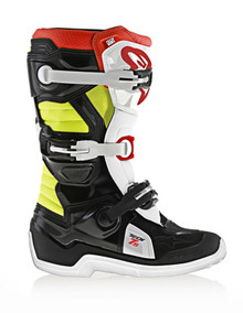 Alpinestars Tech-7S Junior Boots Black/Red/Flo Yellow