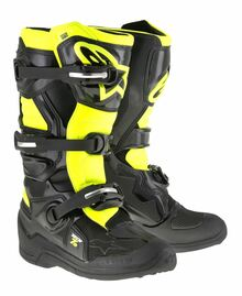 Alpinestars Tech 7S Junior Boots Black/Flo Yellow