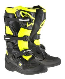 2017 Alpinestars Tech 7S Junior Boots Black/Flo Yellow