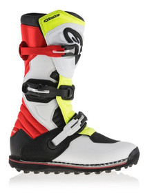 2017 Alpinestars Tech-T Boots White/Red/Flo Yellow/Black