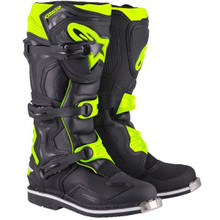 2017 Alpinestars Tech One Boots Black/Flo Yellow