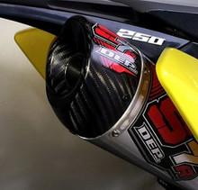 DEP DEPS4210 S7R 4 Stroke Carbon Can Suzuki RMZ250 2010 Onward