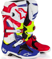 2017 Alpinestars Tech 10 LE Boots MX Of Nations Blue/Red