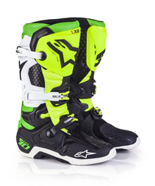 2017 Alpinestars Tech 10 Boots LTD Edition Vegas Black/White/Green/Flo Yellow